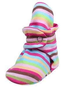 Zutano Baby-Girls Newborn Super Stripe Booties, Multi, 3 Months