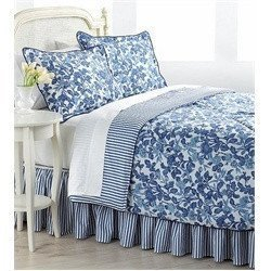 Lauren by Ralph Lauren Adeline Blue Floral QUEEN Comforter Set