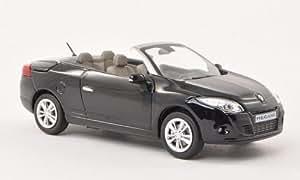 Amazon.com: Renault Megane Coupe Convertible, black , 2009, Model Car