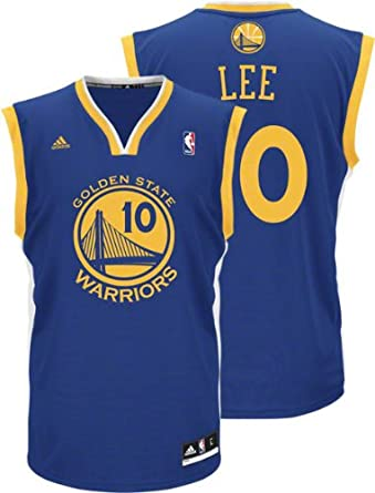 adidas Golden State Warriors David Lee New Revolution 30 Replica Road Jersey by adidas