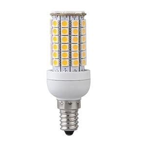 Bombilla Lampara Luz Blanco Calido E14 8W 69 LED 5050 SMD AC 220V Bajo Consumo   más información y revisión