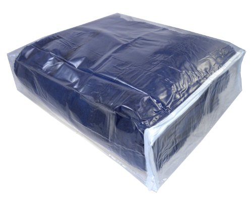 """Clear Vinyl Zippered Storage Bags 15""""X18"""" By 4"""" Deep, Set Of 5 front-201802"""