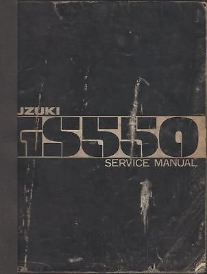 1977 Suzuki Motorcycle Gs550 Service Manual Supplement