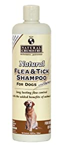 Natural Chemistry Natural Flea and Tick Shampoo with Oatmeal for Dogs, 16.9-Ounce