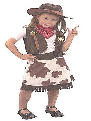 Cowgirl Toddler Fancy Dress Costume Age 2-4