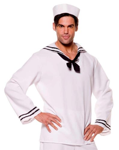Underwraps Mens White Sailor Costume