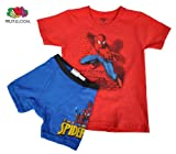 Spiderman Fruit of the Loom Boys Underoos (t shirt/underwear) set (sizes 4 -8)