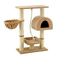 Go Pet Club Small Cat Tree Furniture Beige
