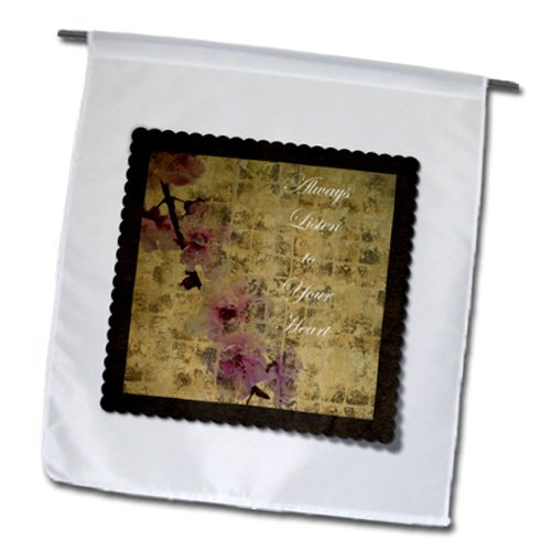 PS Inspirations - Listen To Your Heart Inspired Cherry Blossom Floral - 18 x 27 inch Garden Flag (fl_63428_2)