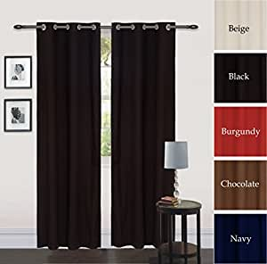 Grommet curtain window panel drapes black for Curtain creator software
