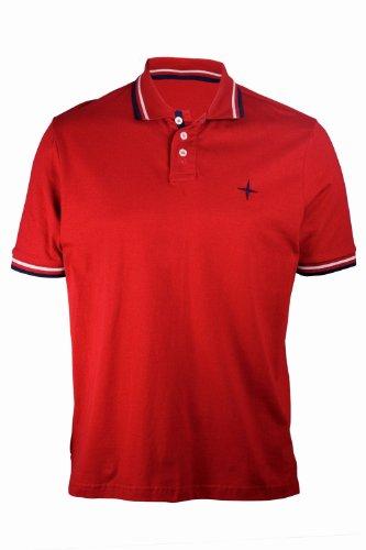 Men's Plain Polo Shirt - Colour Red Size Large