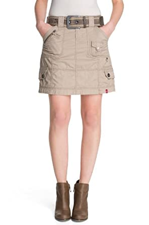 edc by ESPRIT - Jupe - Femme - Beige (225 Sahara Beige) - FR : 38 (Taille fabricant : 36)