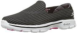 Skechers Performance Women s Go Walk 3 Slip-On Walking Shoe Black/White 6.5 B(M) US