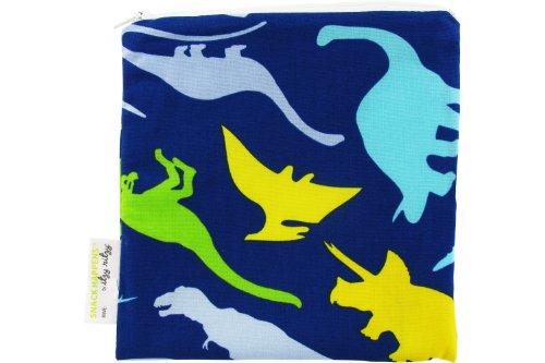 Itzy Ritzy Snack Happens Reusable Snack Bag, Dino-Mite