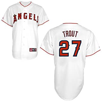 Mike Trout Los Angeles Angels of Anaheim Replica Home Jersey by Majestic Select Size:...