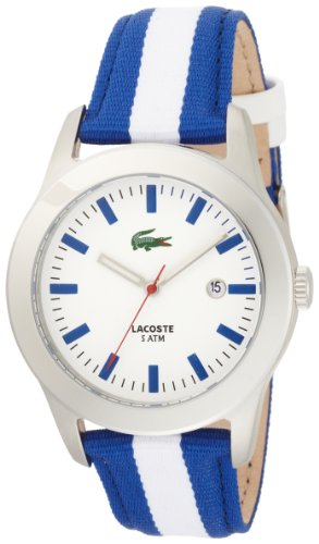Lacoste Advantage White Dial Blue and White Strap Mens Watch 2010500