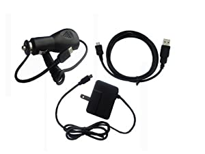 iShoppingdeals - Car/Home Wall AC Charger and USB Data Cable for HP Slate 7 INCH Tablet 2800 from iShoppingdeals