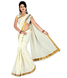 Atex Cotton Saree with Blouse (5191_Ivory)