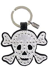 Coach Limited Edition Skull Keychain/Keyfob Silver Black