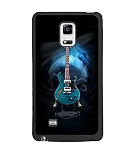 PrintDhaba Guitar D-3056 Back Case Cover for SAMSUNG GALAXY NOTE 4 EDGE (Multi-Coloured)