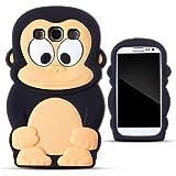 Demarkt Affe Schutzh�lle H�lle f�r Samsung Galaxy S3 i9300 Case Silikon Affe Cover Schwarz