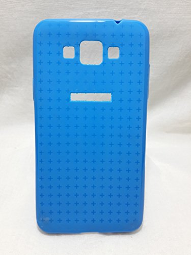Iway Textured Design Matte & Glossy Finish Soft TPU Back Cover for Samsung Galaxy Grand Max 7202 - Blue