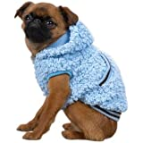 Casual Canine Polyester Snowbaby Dog Hoodie, Large, 20-Inch, Blue