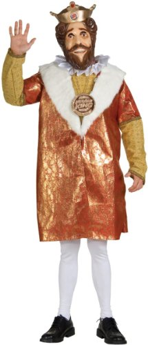 Rubies Costumes Mens Burger King Deluxe Adult Costume