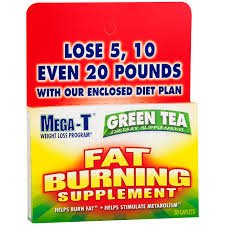 Mega-T Green Tea Extract Dietary Supplement Caplets, 30 Count - (Pack Of 3)