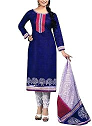 Vaamsi Women's Salwar Suit Dress Material (Deep1043_Blue_Free Size)