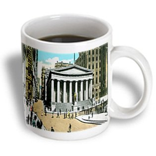 Bln Scenes Of New York City Collection - Us Sub Treasury Building New York City - 11Oz Mug (Mug_170148_1)