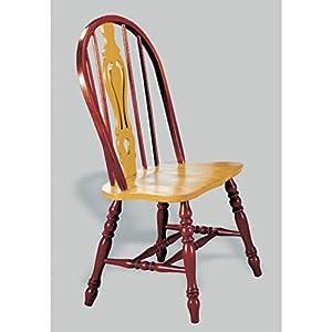 Sunset Selections Keyhole Back Side Chair Finish: Nutmeg / Rich Honey Light Oak