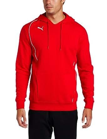 Puma Men's Foundation Hooded Sweat Fleece (Puma Red/White/White, XX-Large)