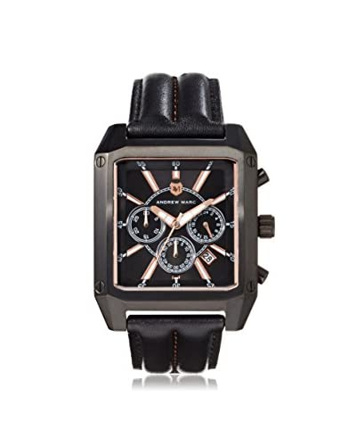 Andrew Marc Men's A11301TP Club Patrol Black Chronograph Watch