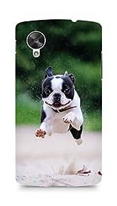 Amez designer printed 3d premium high quality back case cover for LG Nexus 5 (BostonTerrier)