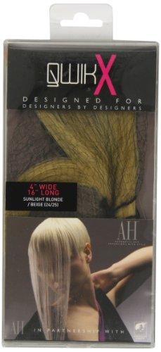 Qwik Percent X 100-Remi Indian Human Hair Extension per capelli, colore 24/25-Luce solare, colore: biondo/41 cm, colore: biondo chiaro