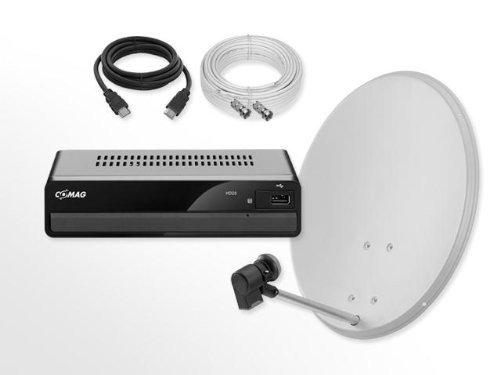 Comag Digitale 1-Teilnehmer Satelliten-Anlage mit HD25 Receiver 60cm