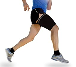 Copper Compression Recovery Thigh Sleeve, For Sore Hamstring, Groin, & Quad Support. GUARANTEED Highest Copper Content. Great For Running & All Sports! (1 Sleeve Size Medium)