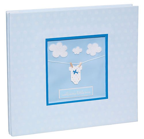 Ek Success 8 Inch By 8 Inch Overton House Designs Pre-Finished Scrapbook Album-Baby Boy front-497029