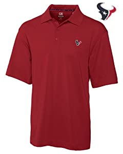 Houston Texans Mens Drytec Championship Polo Cardinal Red by Cutter & Buck