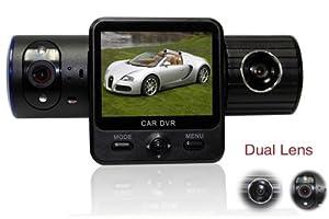 X6000 Portable Car DVR Camera HDMI 2.0 Inch Screen Vehicle Car Dvr Camera Dashboard Night Vision 100 Degree Front 120 Degree Back Wide Angle and dual camera Dvr Car Camera