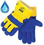 Black Stallion 5LWP Waterproof Lined Insulated Cowhide Winter Work Gloves, Large