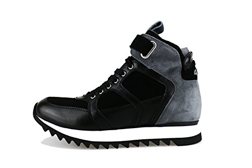 CESARE PACIOTTI 4US 37 EU sneakers donna nero pelle grigio camoscio AG126