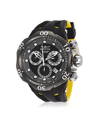 Invicta Men's 16996 Venom Black & Yellow Silicone Watch