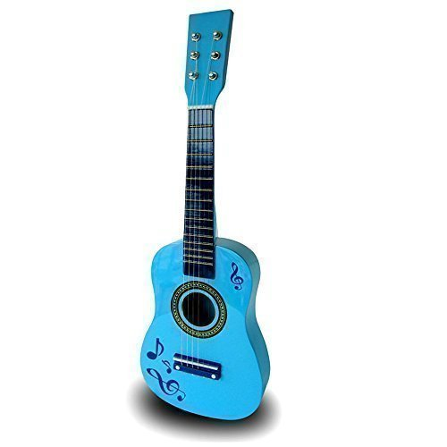 23-childrens-kids-wooden-acoustic-guitar-musical-instrument-child-toy-xmas-gift-blue