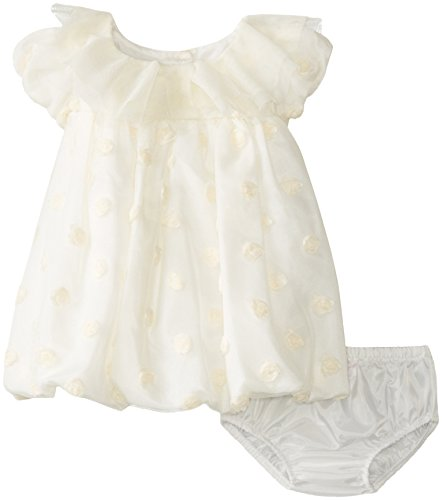 Bonnie Baby Baby-Girls Newborn Rosebud Bonaz Bubble Dress, Ivory, 6-9 Months front-866698