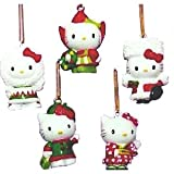 Set of 5 Hello Kitty Global Mini Christmas Ornament Set