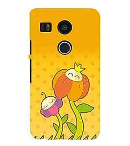 printtech Funny Flower Design Back Case Cover for LG Google Nexus 5X / LG Google Nexus 5X (2nd Gen)