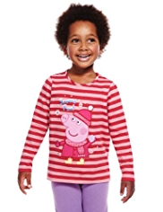 Pure Cotton Peppa Pig Snowy Fun T-Shirt