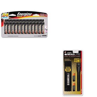 Kitevee91Sbp24Hmglsp2201H - Value Kit - Energizer Max Alkaline Batteries (Evee91Sbp24H) And Mag Instrument Inc Mini Led Flashlight (Mglsp2201H)